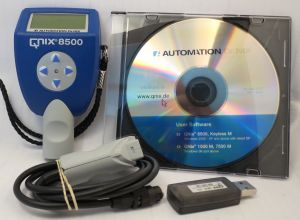 Automation Dr. Nix Paint Thickness Gauge Model QNix® 8500 P / NFe 80 mil probe/Ext. Cable, Software & USB Interface