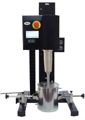 Laboratory Mixer BEVS 2501/ 1L with 550W, manual type, 250 lift distance, 1.5 Liter Vessel, 4 discs, / 110V/60Hz- long shaft