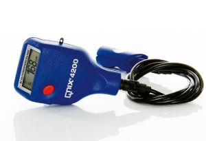 QNix 4200 w/ integrated Fe pprobe 120 mil on Ext. cable Paint Thickness Gauge | Paint Meter | Dry Film Gauge